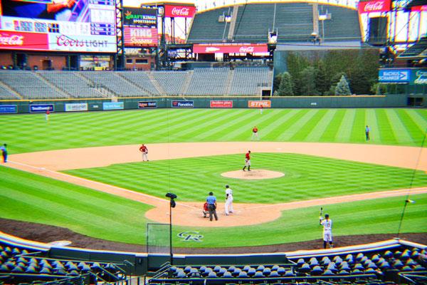 Photo of baseball stadium no fans