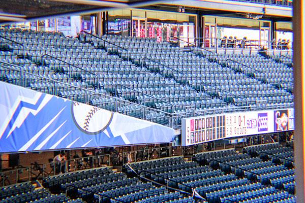 Photo of empty baseball stadium seats