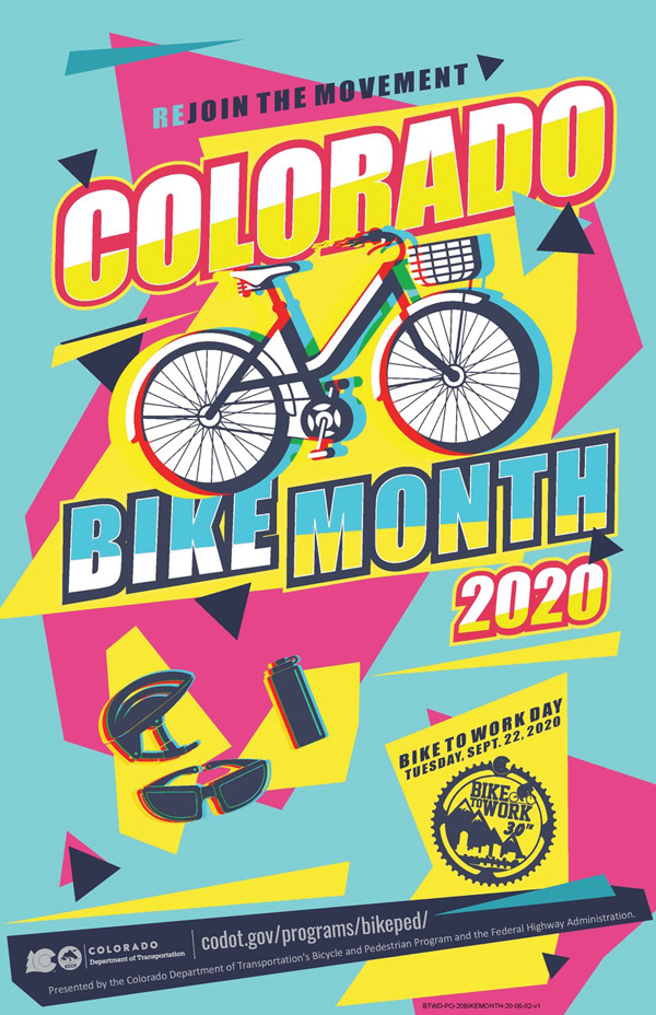 Colorado Bike to work day poster