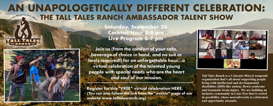 Tall Tales Ranch Talent Show ad