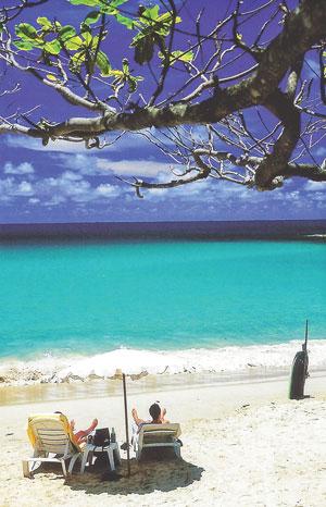 Photo of Nai Harn Beach on the southwest corner of Phuket Island