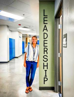 Photo of Christy Kloter's leadership classroom