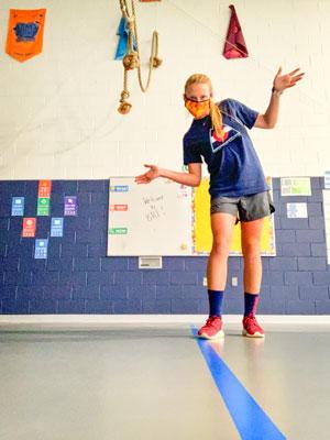 Photo BRE's new PE teacher Kelli Weinrich