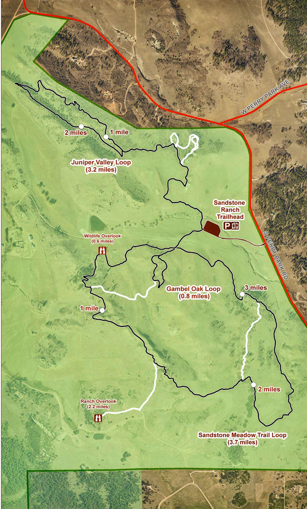 Map of Sandstone Ranch