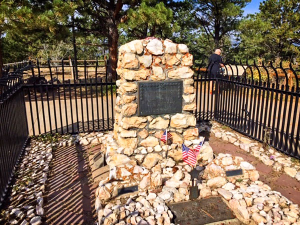 William F. Cody and his wife of 51 years, Louise Frederici Cody, are buried in Lookout Mountain Park