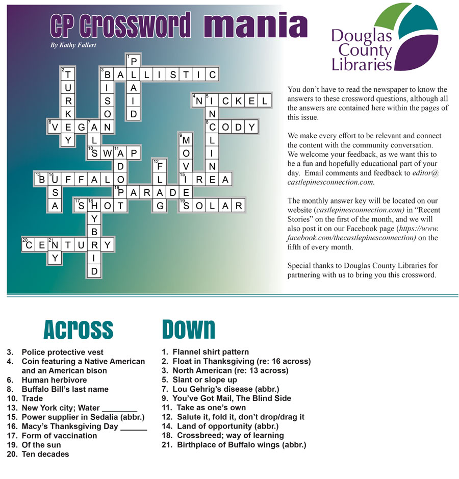 November 2020 Crossword