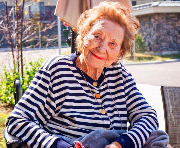 Photo of Hazel Bagley celebrating 103rd birthday