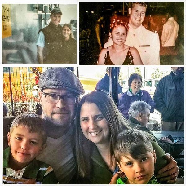 Photo collage of the O'Dea family