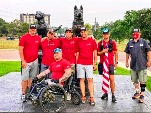 Photo of wounded veterans who walked 100 miles from Westminster to Colorado Springs