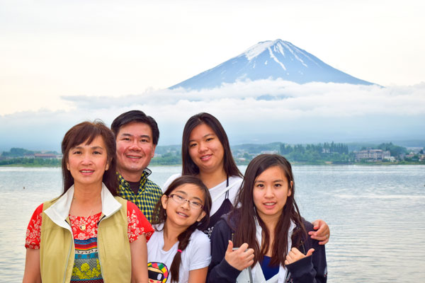 Photo of Kevin Leung familly in Japan