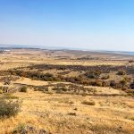 Photo of view atop the RHRA incline reveals Rueter-Hess Reservoir