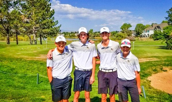Photo of RCHS varsity boys golf team