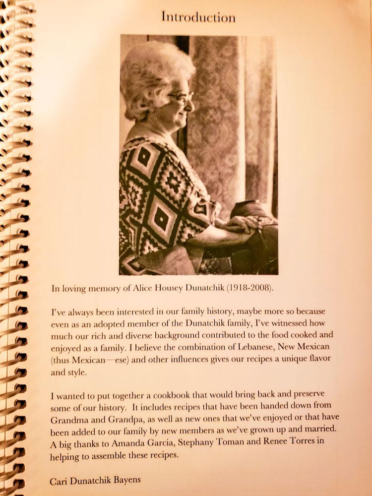 Photo of family recipe book