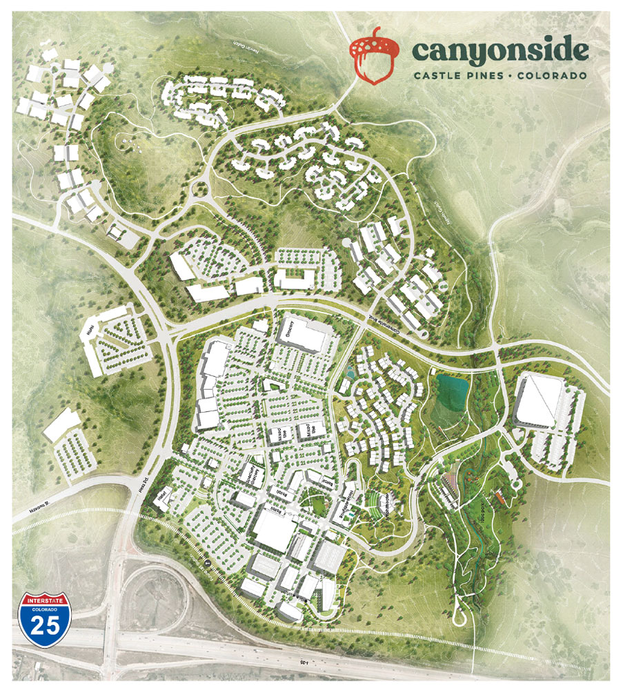 Rendered map of The Canyons Development