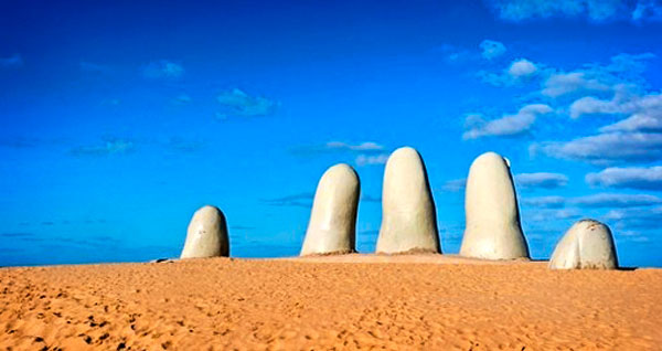 "Photo of ""La Mano"" Hand in the Sand:"