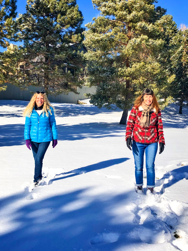 Photo of Colette Celecki (left) and Dena Larsson (right) have been walking in Castle Pines for years