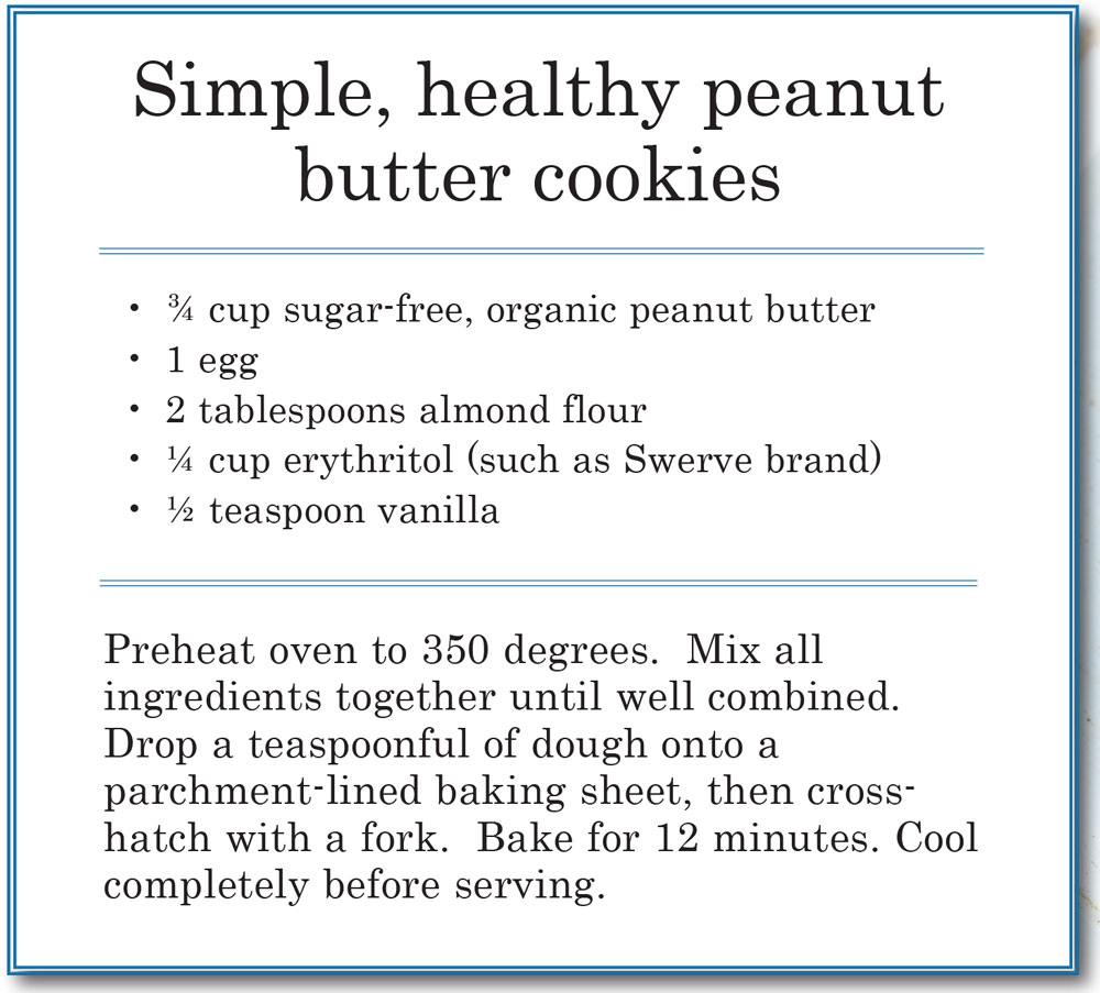 Recipe for healthy peanut butter cookies