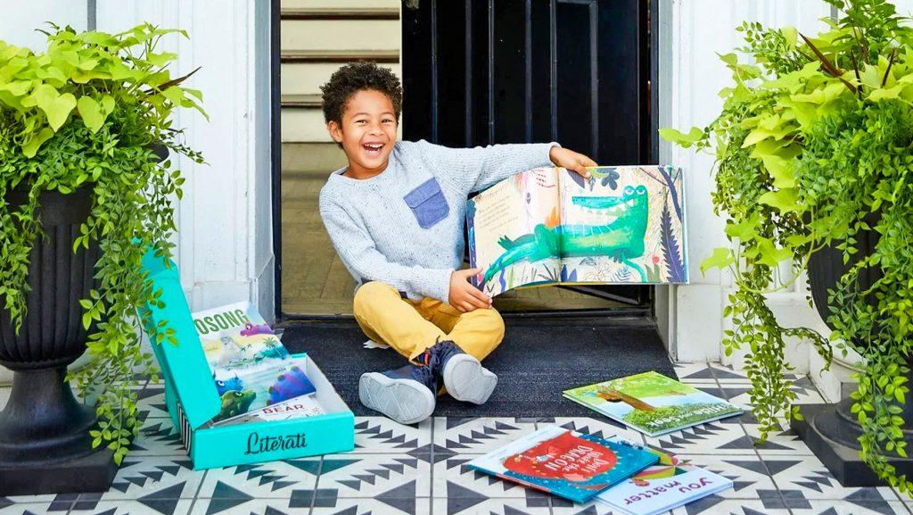 Photo of boy reading a book