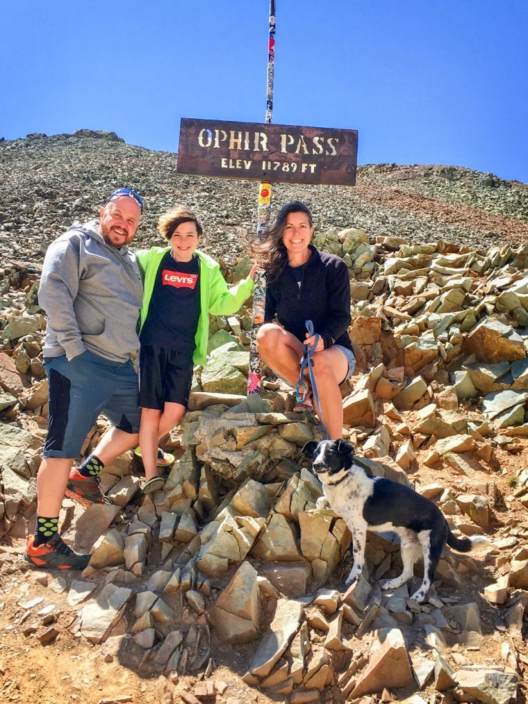 Photo of the King family at Ophir Pass.