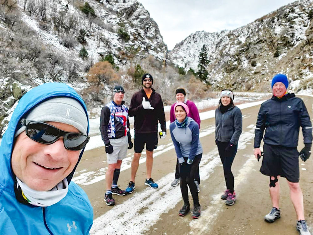 Photo of friends has become an annual tradition for the Castle Pines Running club.