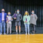 Photo of Rocky Heights Middle School spelling bee winners.