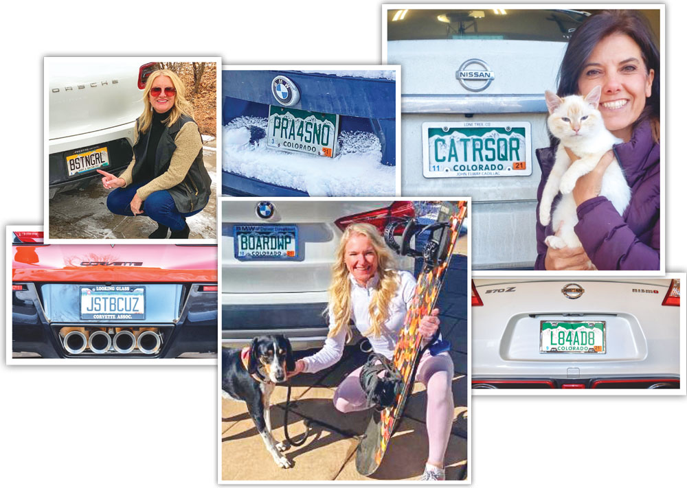 Collabe of personalized license plates
