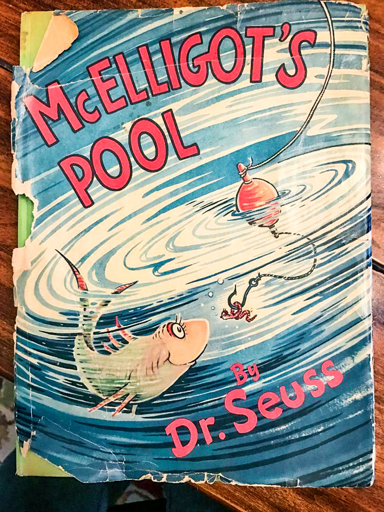 Shaun Kernahan's Dr. Seuss book McElligot's Pool was handed down from his great uncle