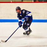 Photo of RCHS senior Jacob Saenger has had an exciting hockey season