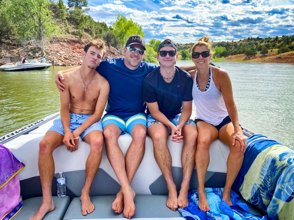 Photo of Jacob, Adam, Breck and Lynnnetta Saenger