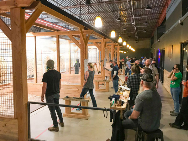 Photo of Primal Axe House in Sheridan hosts tournaments for axe throwing