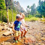 Photo of Shephard and Shiloh Skaley enjoy exploring the South Boulder Creek
