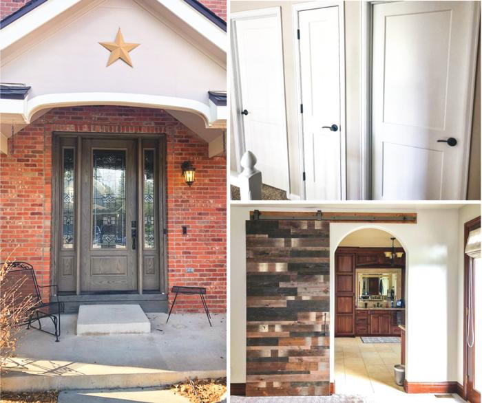 Photo of various door remodels