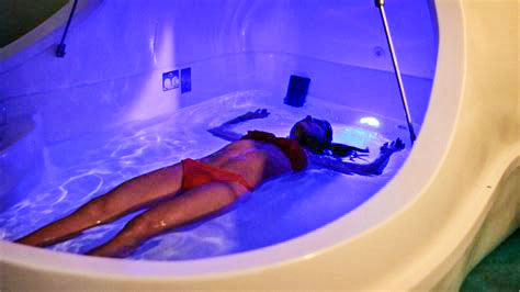 Photo floating in body-temperature water