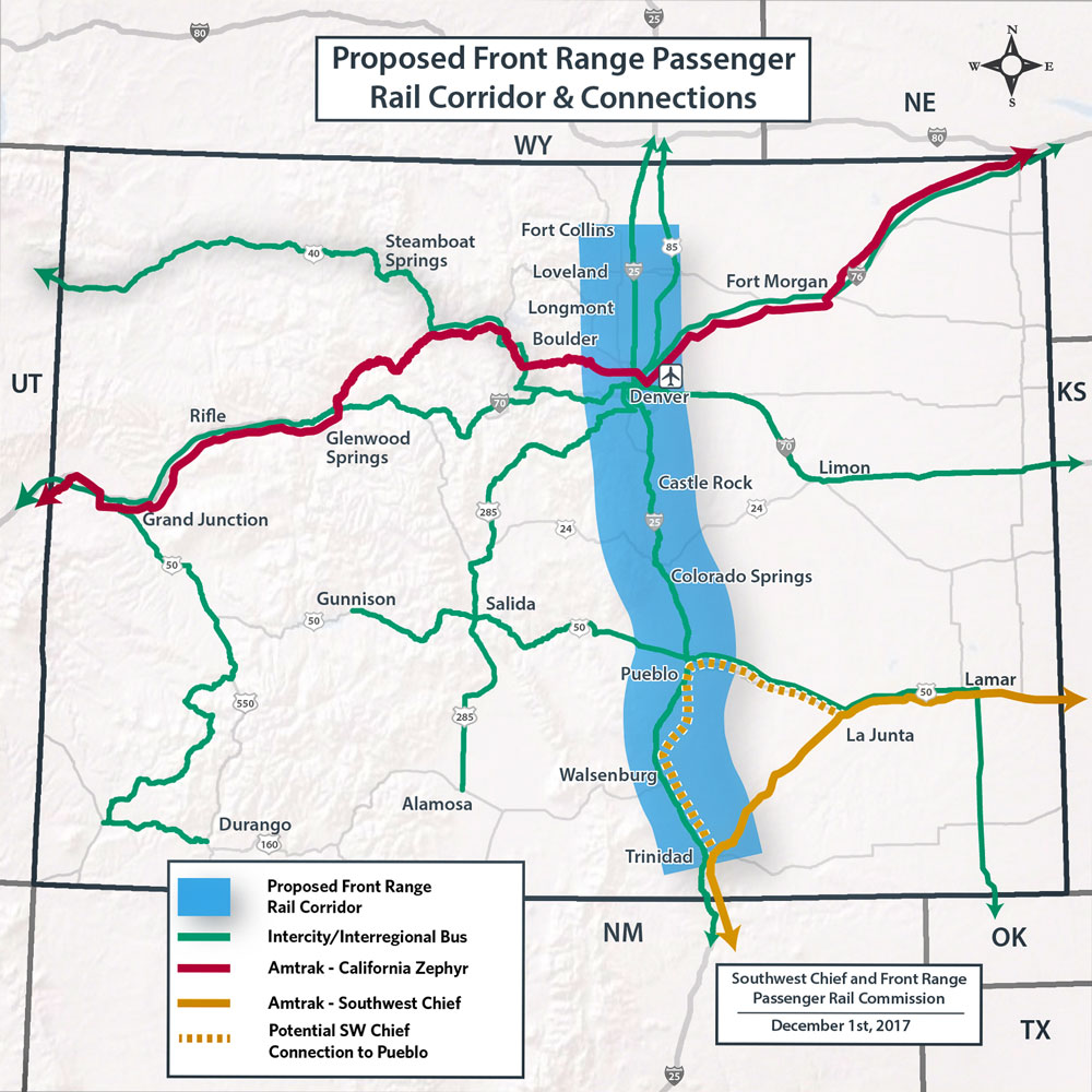 Map of proposed passenger-rail-district