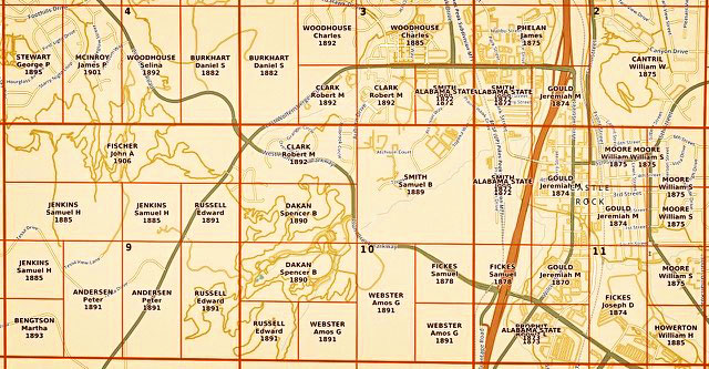 Map in Douglas County shows a breakdown of land parcels.
