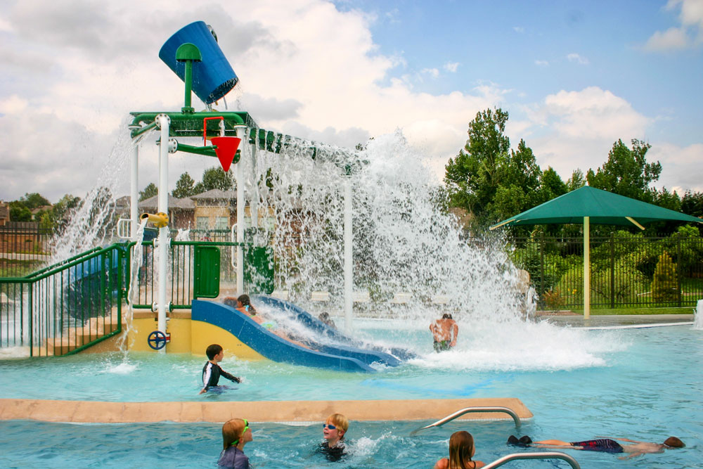 The water bucket at Cook Creek Pool in Lone Tree.