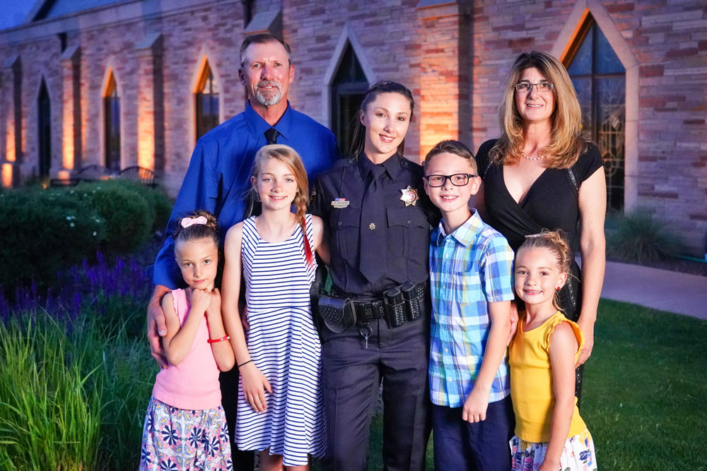 Photo of DCSO Deputy Lauren Childress and her family