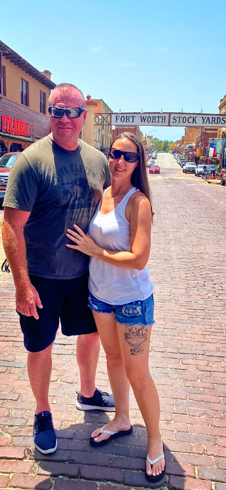 Photo of Childress and her husband, Greg, take advantage of time together