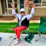 Photo of Ann Palmieri celebrating her 99th birthday on June 2, 2020.