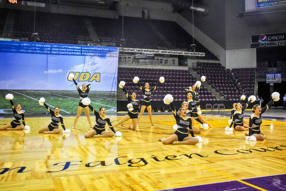 Photo of RCHS poms at the Broadmoor World Arena