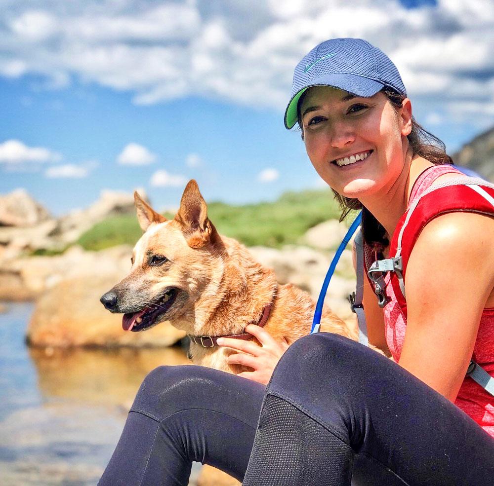 Photo of Hannah Button enjoying the Colorado outdoors.