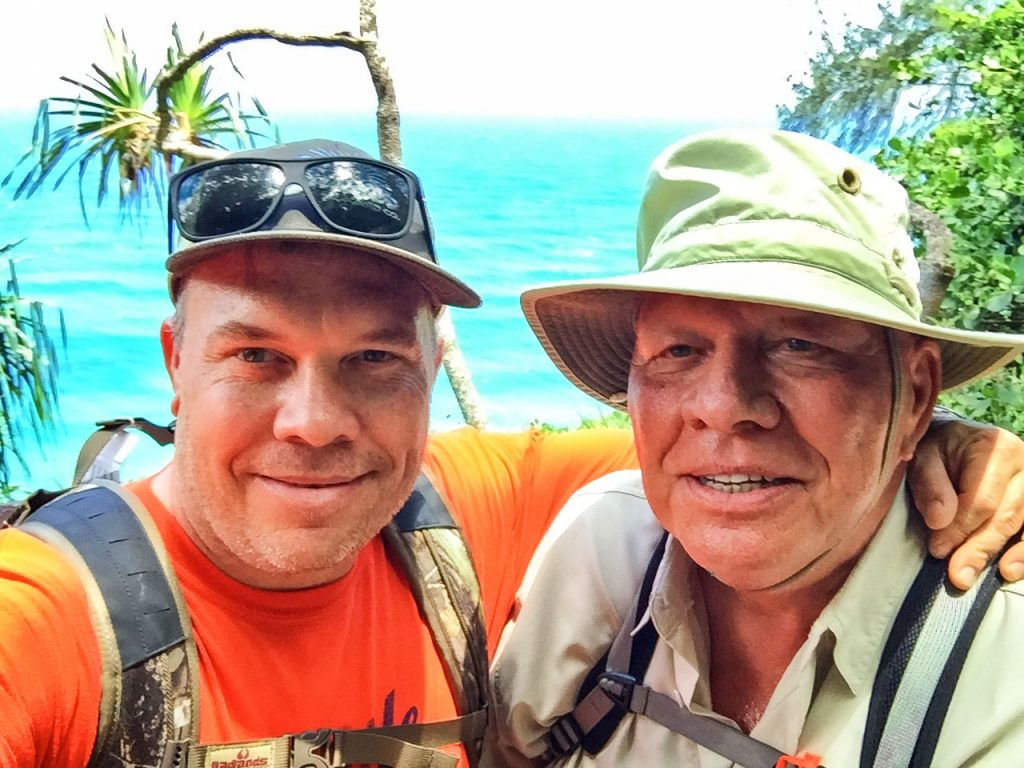 Photo of GreanEarth Cleaners owners Derek Blaha and his father, Joe,