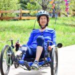 Photo of Carol Gransee in her recumbent trike