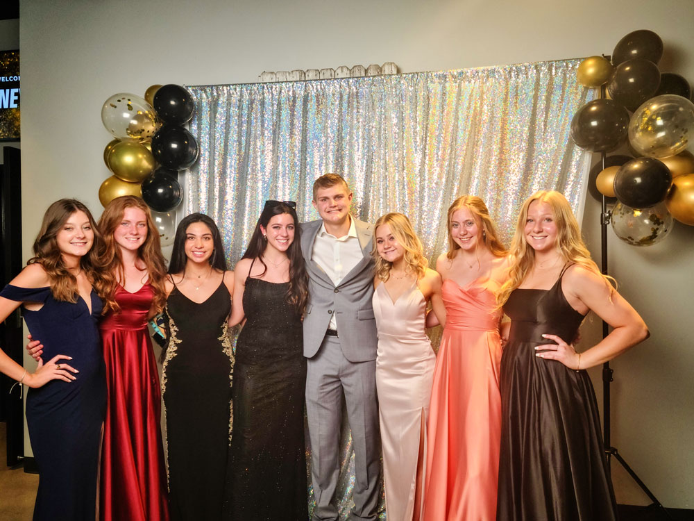 Photo of friends gathered together at Journey Prom.