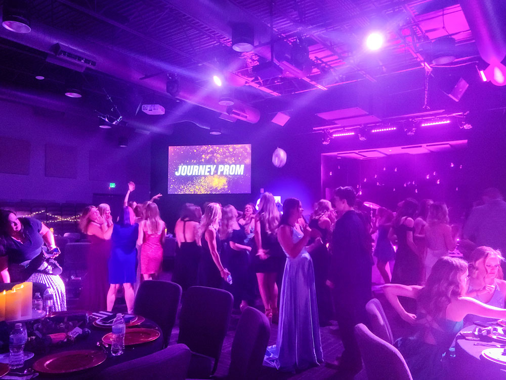 Photo of students rocking to hit song and prom