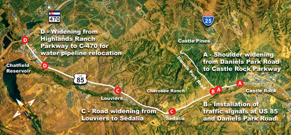 Road projects on U.S. 85