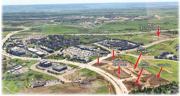 Aerial photo of Castle Pines growth