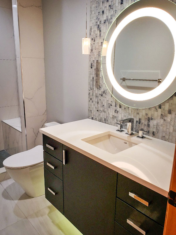 Photo of a Castle Pines bathroom was recently renovated.