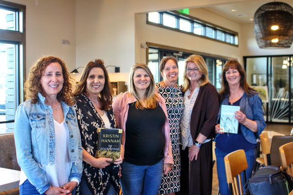 Photo of a new book club that meets at The Exchange Coffee House.