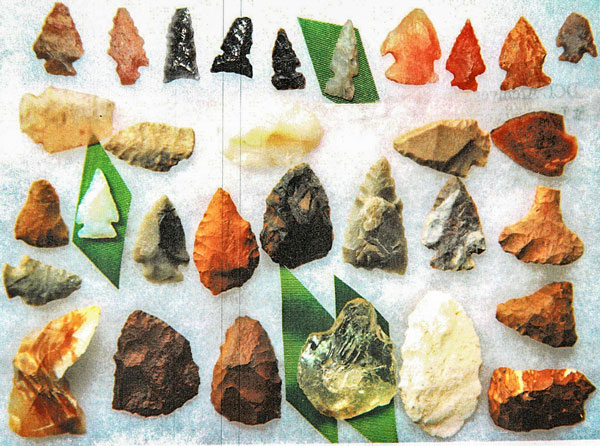 Photo of Ute indian arrowheads.